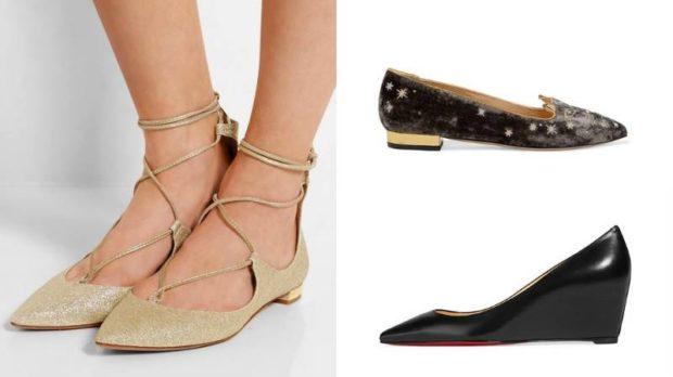 Туфли на низком ходу весна лето 2019: на низком ходу, кожаные, со шнуровкой золотистого и черного цвета
