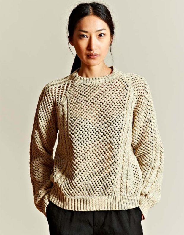 Вязаные свитера осень зима 2019 2020 свитер с узором,без воротника,крупная вязка