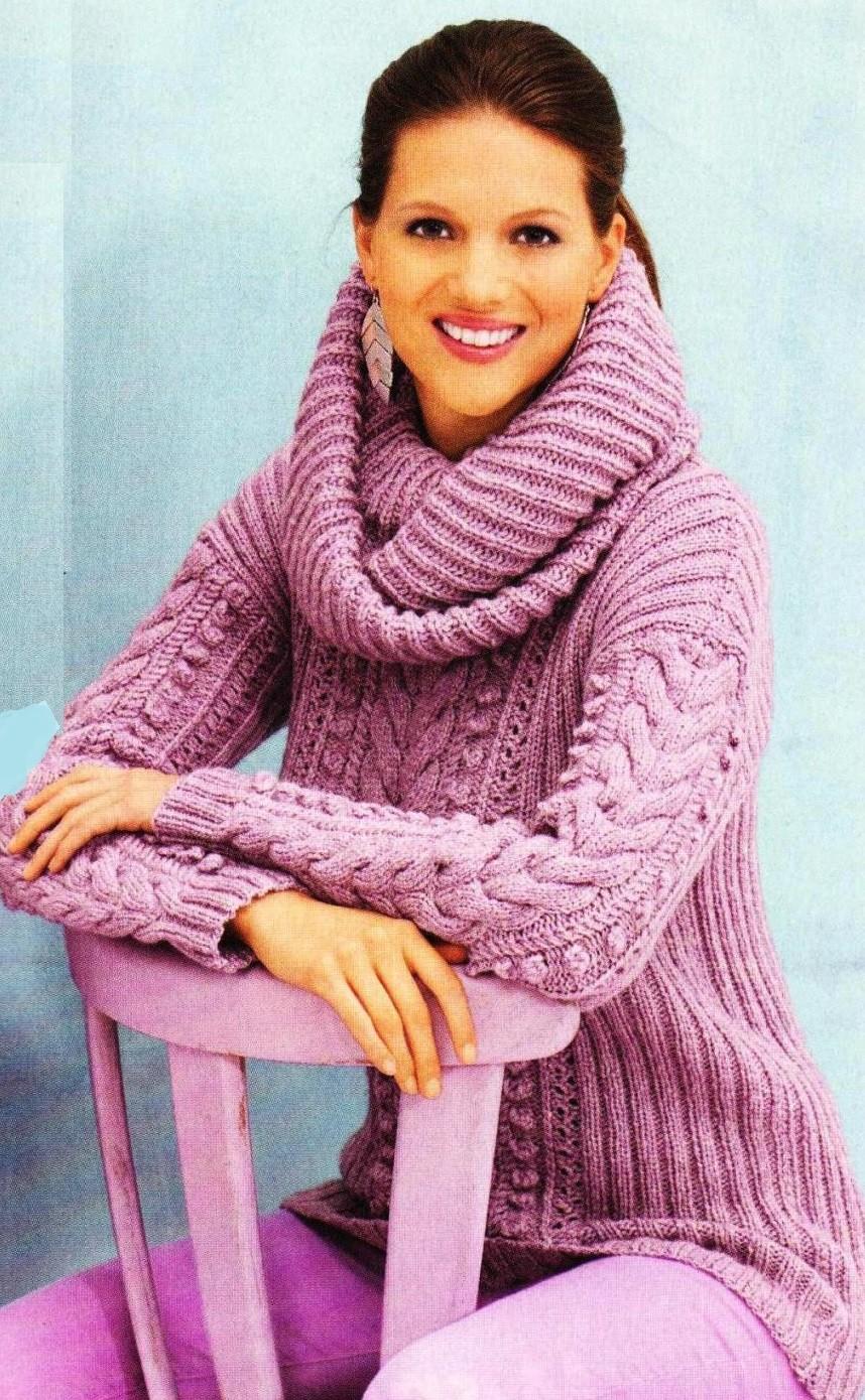 Вязаные свитера осень зима 2018 2019 вязаный свитер, большой воротник, розового цвета