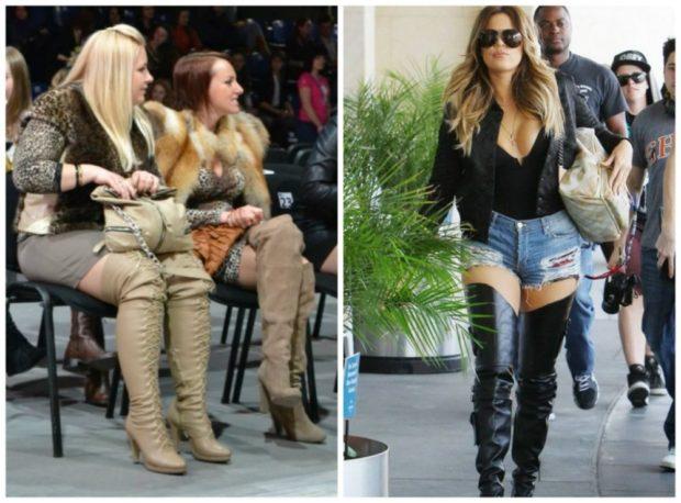 ботфорты зимой под шорты джинсовые короткие с чем носить