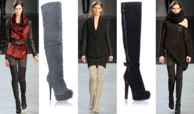 ботфорты с чем носить зимой на каблуке