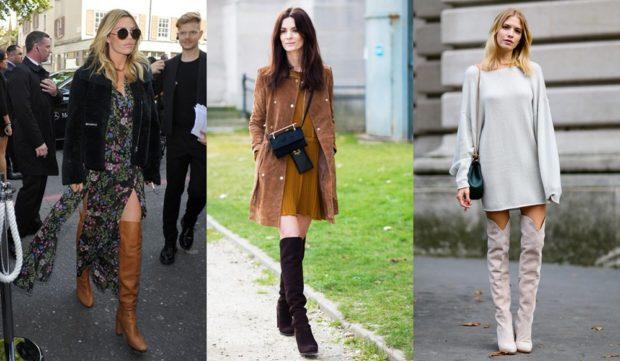 ботфорты зимой с чем носить на каблуке