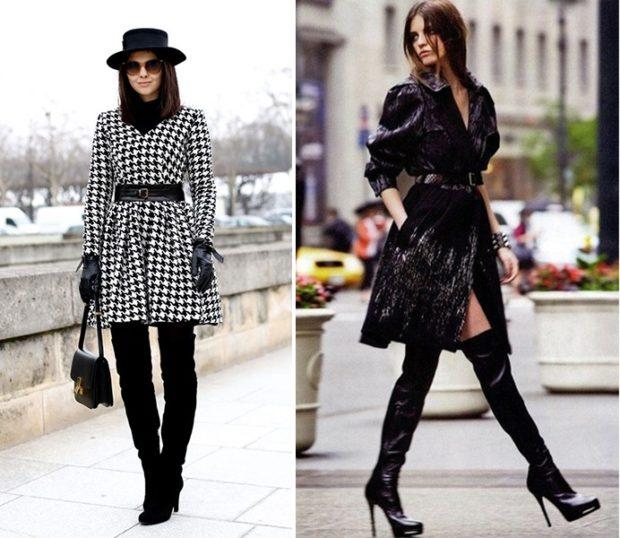 с чем носить ботфорты зимой на каблуке