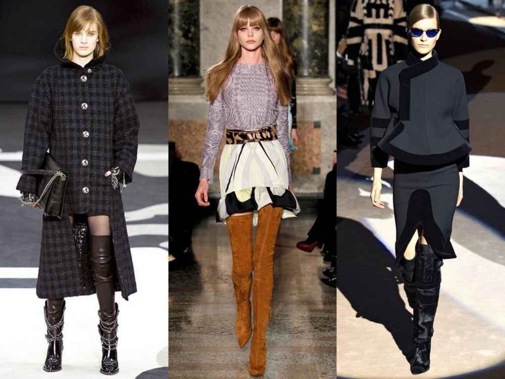 с чем носить замшевые ботфорты зимой