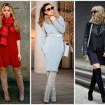 С чем носить ботфорты зимой фото