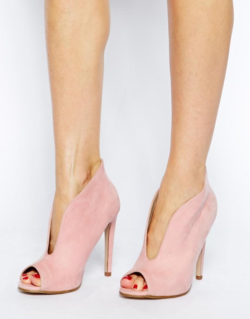 Ботильоны 2019 модные тенденции: замшевые розовые