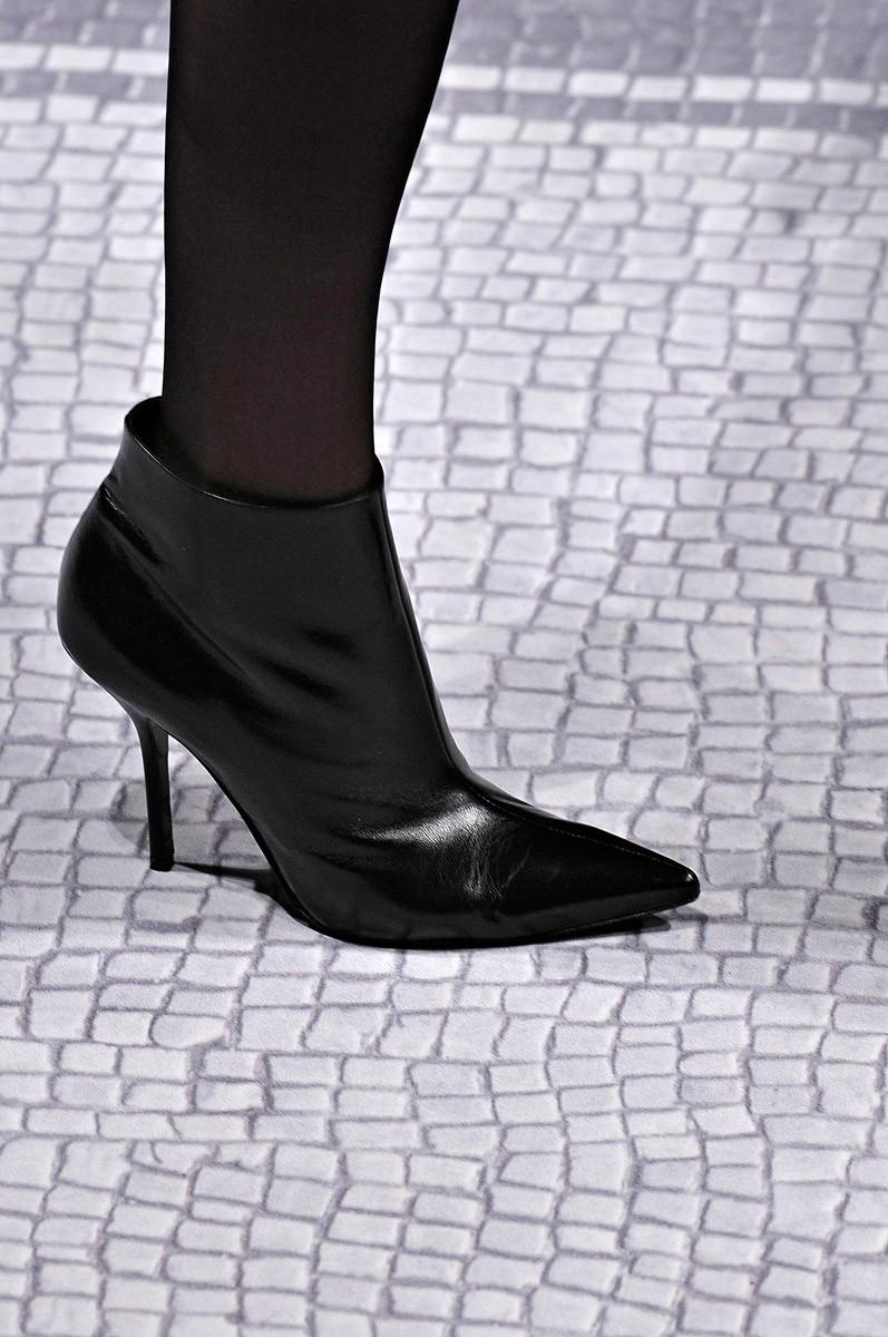 Ботильоны 2019 модные тенденции: кожаные черные