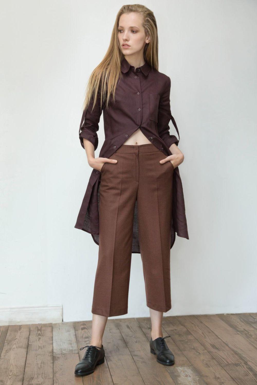 кюлоты коричневые под длинную рубашку