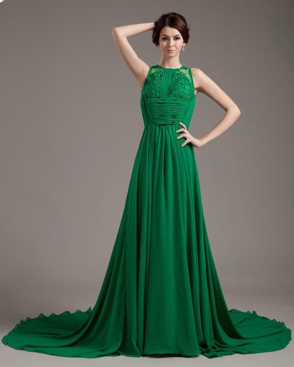 Что одеть на новогодний корпоратив 2019 фото: платье зеленое в пол без рукава