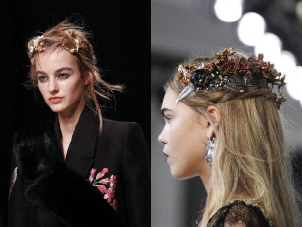 Что одеть на новогодний корпоратив 2019 фото: украшения на волосы с цветами
