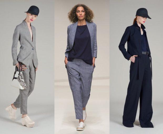 Что одеть на новогодний корпоратив 2019 фото: костюмы серый синий кэжуал