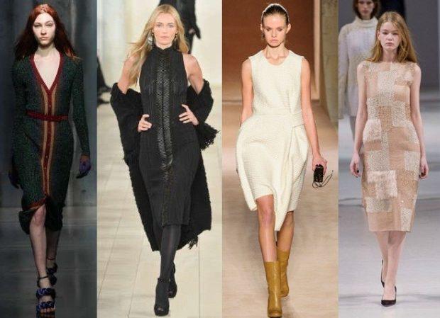 Что одеть на новогодний корпоратив 2019 фото: офисные платья ниже колена черное белое бежевое