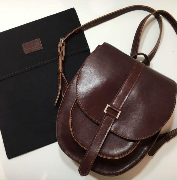 коричневая небольшая сумочка