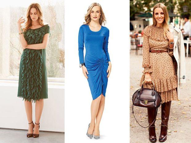 Что одеть на день Святого Валентина 2019: зеленое миди платье синее по фигуре коричневое