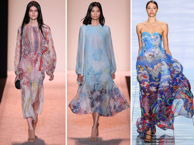 Что одеть на день Святого Валентина 2019: платья шифоновые цветнык