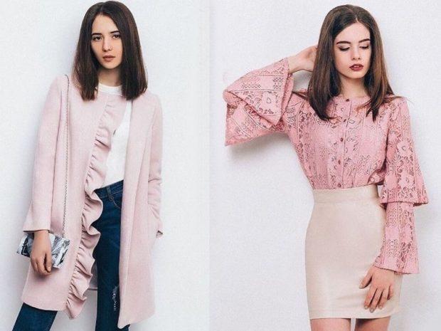 Что одеть на день Святого Валентина 2019: образы романтическое кофта розовое блузка розовая юбка по фигуре