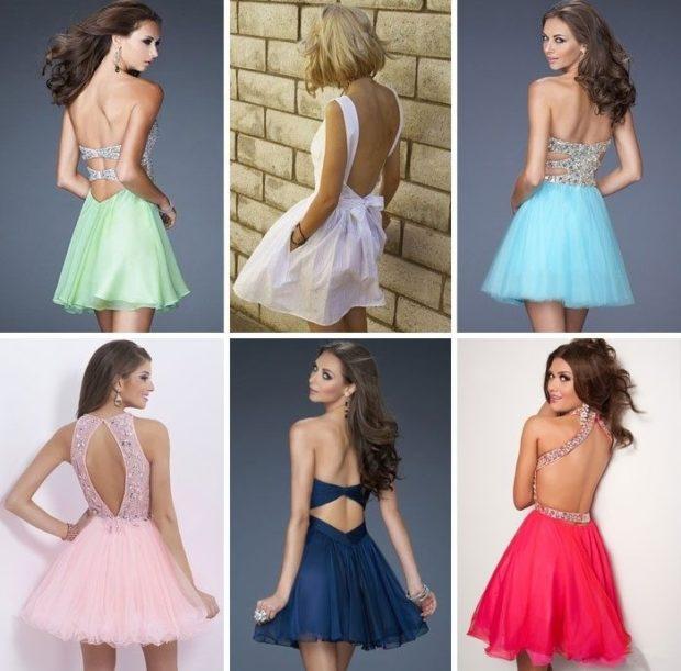 Что одеть на день Святого Валентина 2019: платья короткие с открытыми спинами