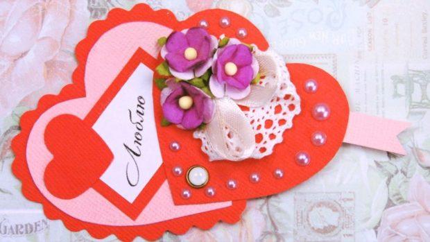 Что одеть на день Святого Валентина 2019: красивая валентинка с цветам