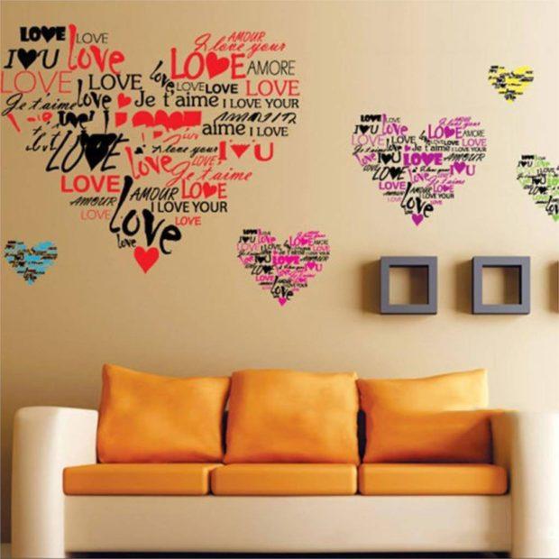 Что одеть на день Святого Валентина 2019: признание в любви на стенке