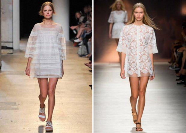 Что одеть на день Святого Валентина 2019: платья ажурные белые короткие