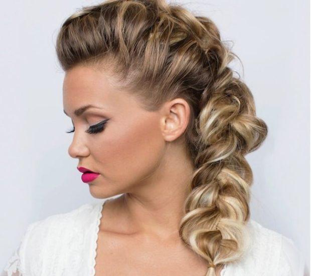 Что одеть на день Святого Валентина 2020: коса обьемная