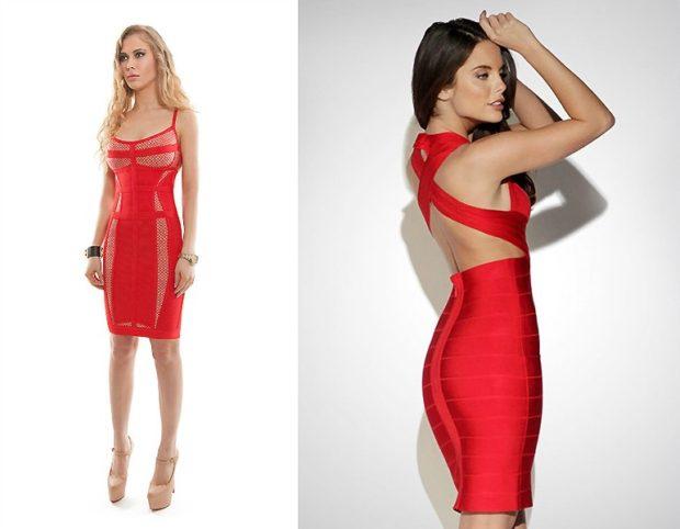Что одеть на день Святого Валентина 2020: платья красные по колено в обтяжку
