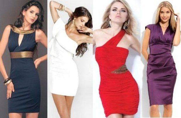 Что одеть на день Святого Валентина 2020: платья по фигуре короткие черное белое красное бордовое
