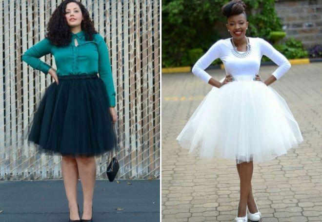 Что одеть на день Святого Валентина 2019: юбки фатиновые белая черная