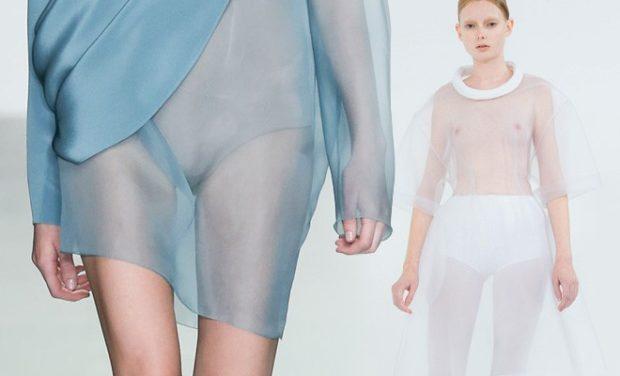 голые платья фото: платья с прозрачной ткани голубое белое