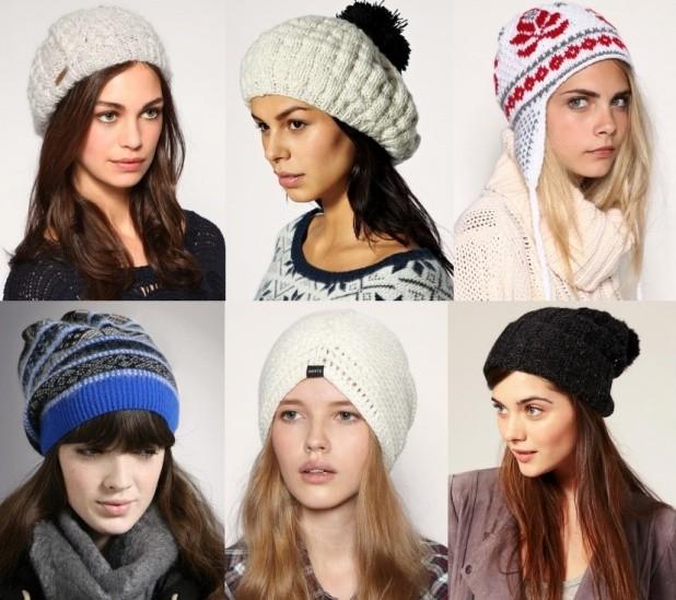 Как носить шапку с челкой: вязаная с челкой серая,бежевая, белая с узором, синяя в полоску,черная