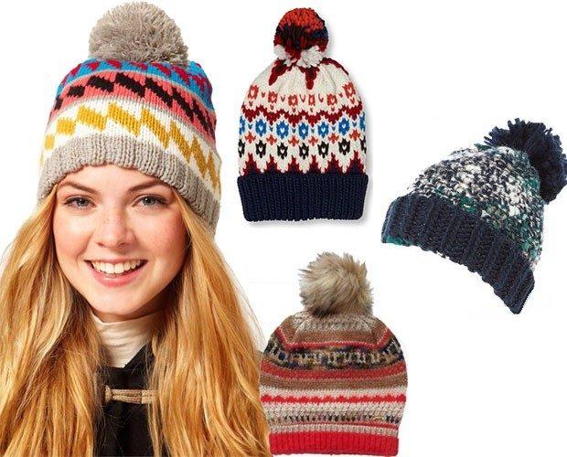 Как носить шапку с челкой: вязаная шапка с челкой с узорами