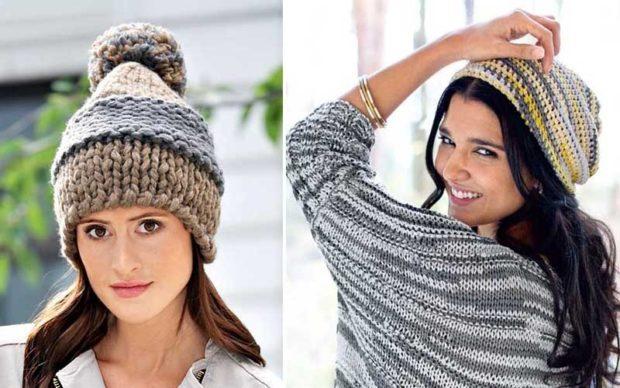 Как носить шапку с челкой: вязаная шапка с челкой коричневая с бубоном