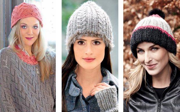 Как носить шапку с челкой: вязаная с челкой розовая серая и черно-белая