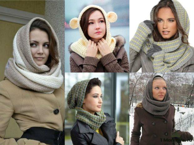 Как правильно носить хомут: как косынка  на пальто