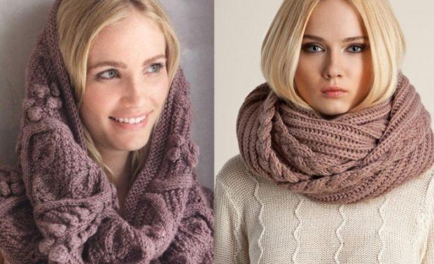 Как правильно носить хомут: коричневый наг олову как шарф