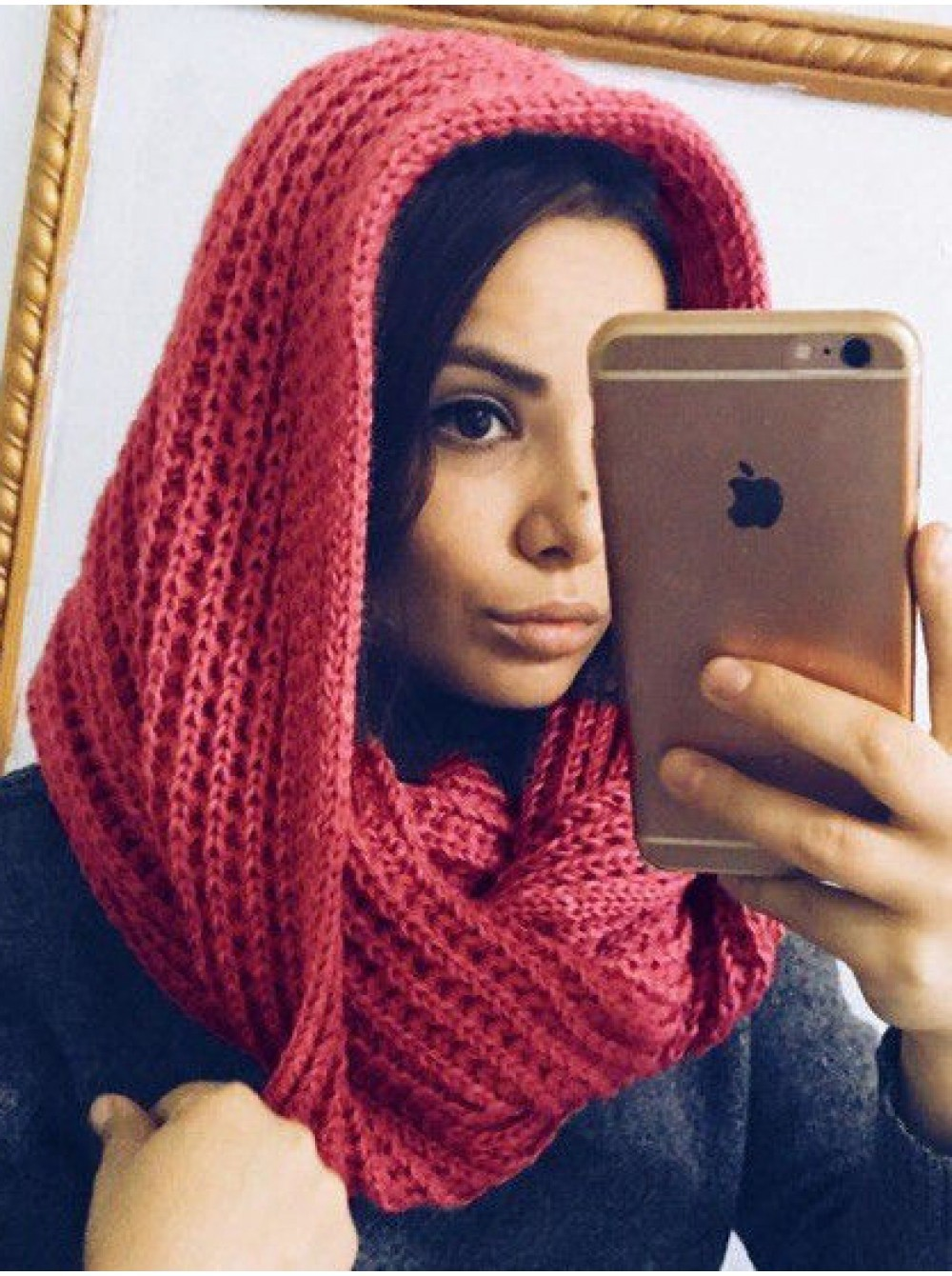 Как правильно носить хомут: розовый снуд на голову как косынка