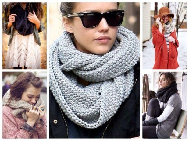 Как правильно носить хомут: серый синий серый как шарф вокруг шеи