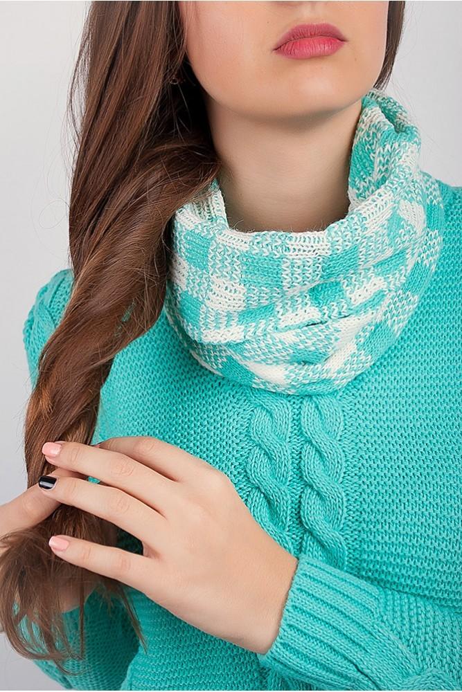 Как правильно носить хомут: салатовый в один слой вокруг шеи