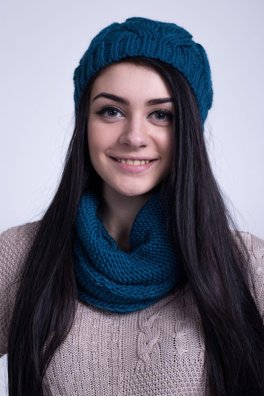 Как правильно носить хомут: синий в один слой тонкий