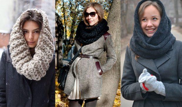 Как правильно носить хомут: как платок не заматывая как шарф в два слоя