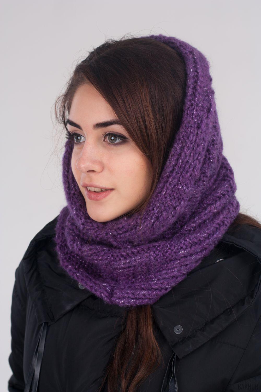 Как правильно носить хомут: сиреневый на голову