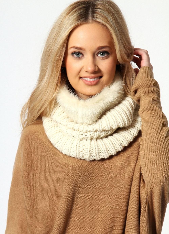 Как правильно носить хомут: как шарф в один слой