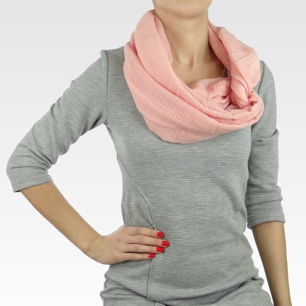 Как правильно носить хомут: розовый тонкий