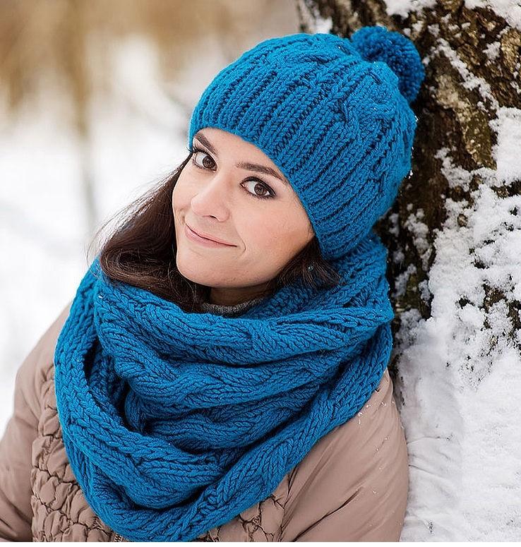 Как правильно носить хомут? синий вокруг шеи два слоя