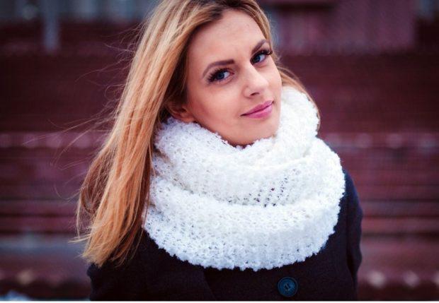 Как правильно носить хомут: белый в один слой