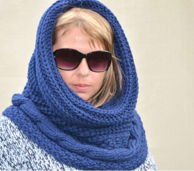 Как правильно носить хомут: синий на голову
