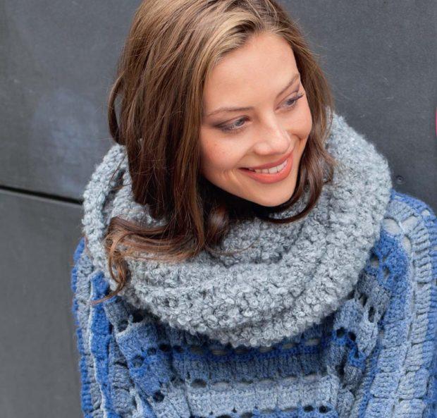 Как правильно носить хомут: серый вокруг шеи объемный
