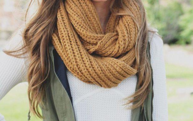 Как правильно носить хомут: как шарф перекрученный