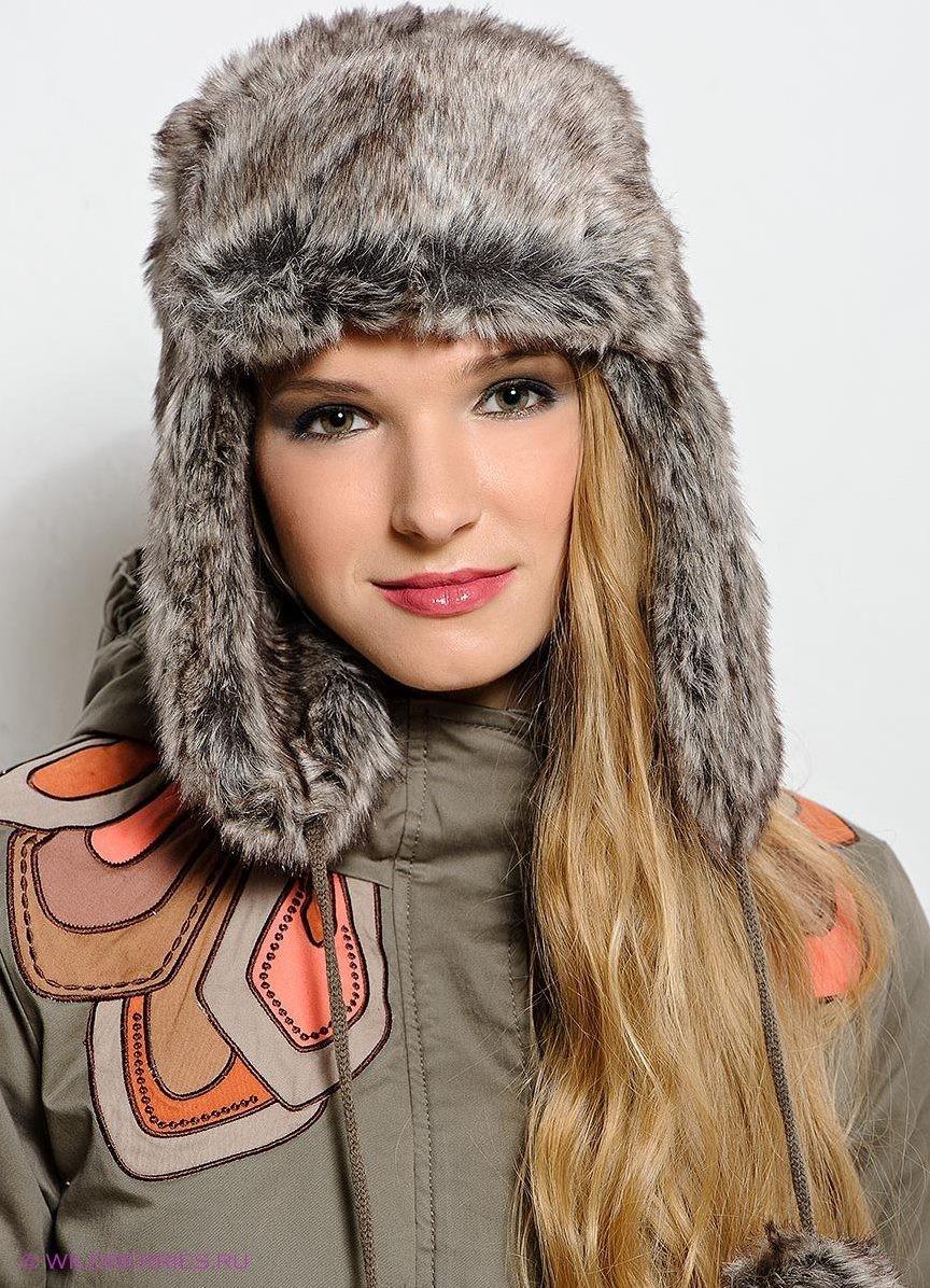 Какую шапку носить с курткой: ушанка из меха серая