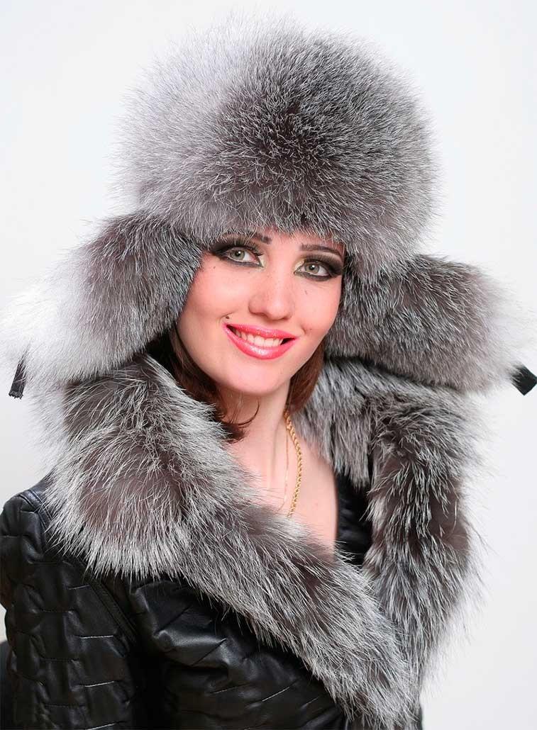 Какую шапку носить с курткой: ушанка меховая